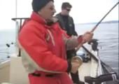 Dem Angler den Fisch weggeschnappt