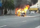 Von brennenden Autos lieber wegbleiben