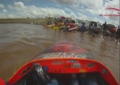 Speedboat in sehr engen Kurven