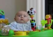 Baby hat Respekt vorm Naseputzen