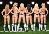 Sexy Fußballmannschaft