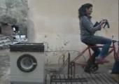 Waschmaschine mit Fahrrad antreiben