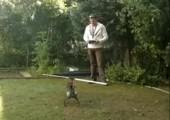 Den neuen RC Hubschrauben im Garten testen