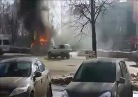 Da brennt ein Auto