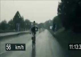 Mit dem Rennrad auf der Autobahn
