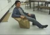 Stuhl aus Papier