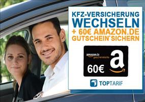 KfZ-Versicherung vergleichen + 60€ Amazon Gutschein