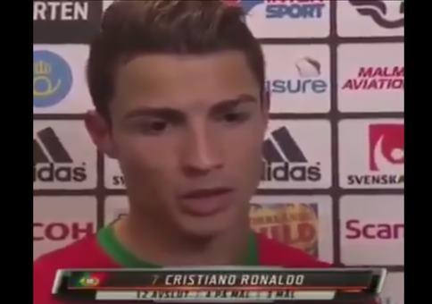 Christiano Ronaldo mit einer sehr wichtigen Nachricht
