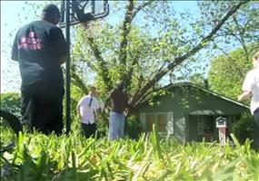Mormonen beim Street Basketball