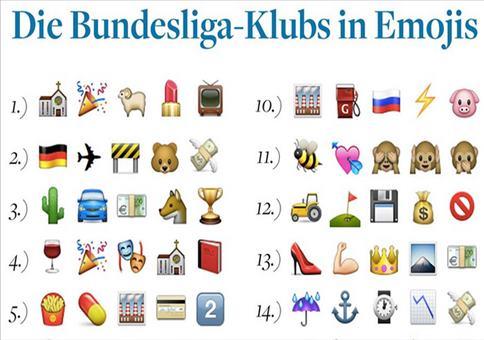 Alle Bundesliga Klubs als Emojis