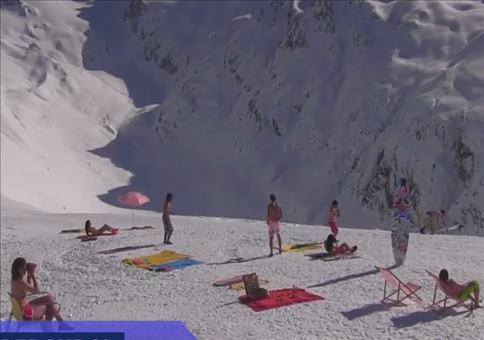 Spaß vor der Webcam im Ski Resort