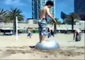 Eingegrabener Gymnastikball