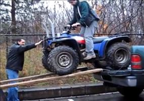 Quad verladen - Fail Compilation
