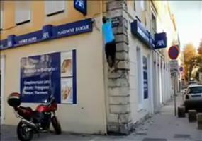 Mauer hoch springen