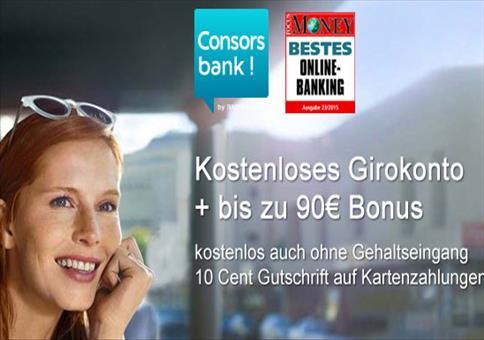 Consorsbank: GRATIS bis zu 90€ Prämie sichern!