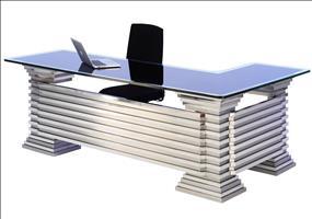 Edelstahl Glas Luxus Schreibtisch