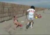 Remi Gaillard spielt Tennis
