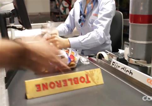 Toblerone auf dem Kassenband