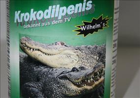 Krokodilpenis in der Dose
