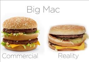 McDonald's Werbung vs. Realität im Videovergleich
