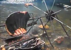 Grillem am Fluss