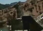 Dickes Walross auf Wasserrutsche
