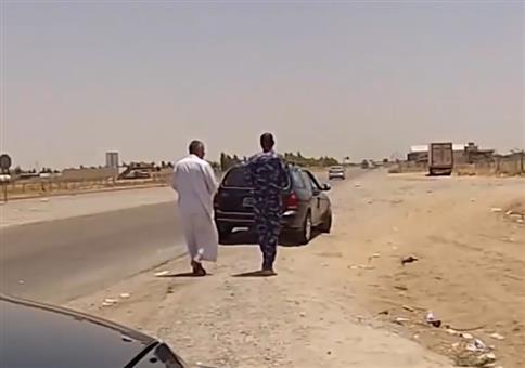 Mitfahrgelegenheit im Irak