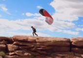 Paraglider beim starten