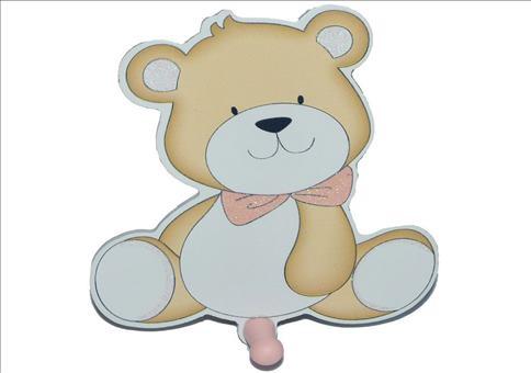 Garderobenhaken Teddybär mit Pim...