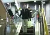 Extrem lange Rolltreppe