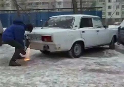 Das passiert, wenn du in Russland doof parkst