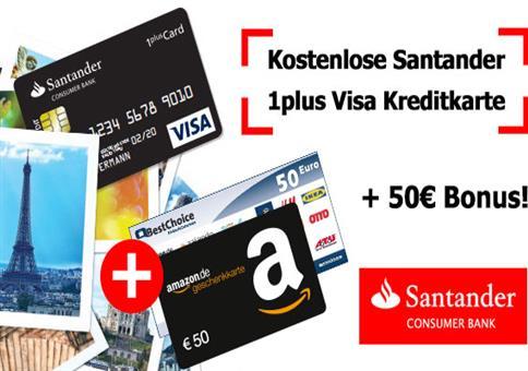 Kostenlose Visa + 50€ Bonus!