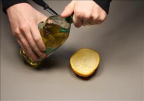 ToDo: Lampe aus Orange basteln