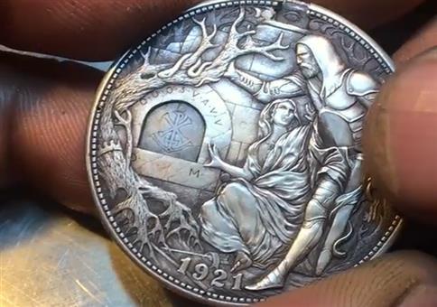 Münze mit interessantem Gimmick