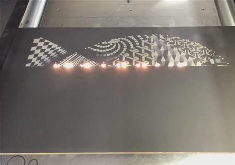 Moderne Kunst mit dem Laser