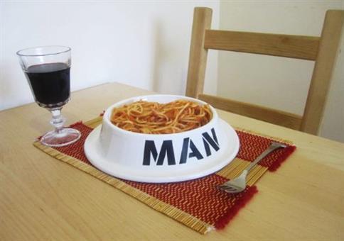 Der einzige Teller, den ein Mann braucht