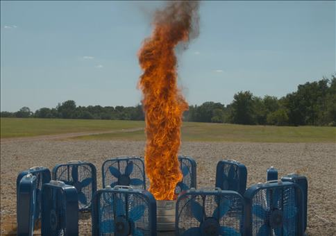 Feuer Tornado in SlowMotion