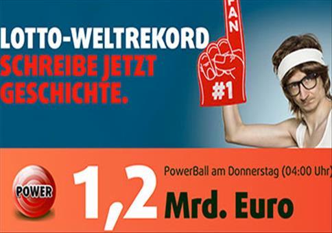 PowerBall mit 1,2 Mrd. € Jackpot – Tippschein + 1 Rubbellos