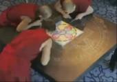 Mandala Kunst in Sand