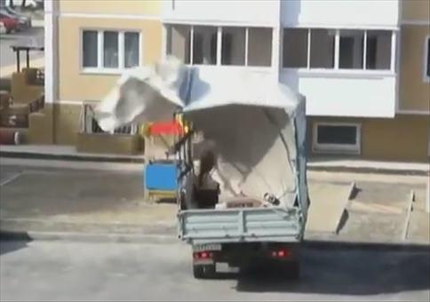 Windiger Frühling in Russland