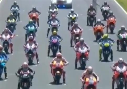 Motorradrennen nachvertont