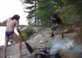 Headbanging beim Feuer machen