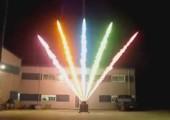 Tolle farbige Feuereffekte