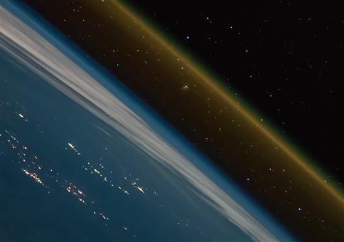 Raketenstart von der ISS gefilmt