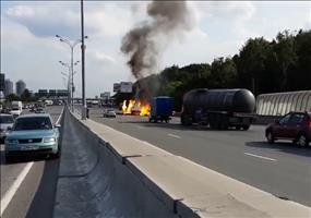 Gas-Explosionen auf russischer Autobahn