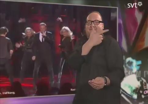 Gebärdendolmetscher beim Eurovision Song Contest