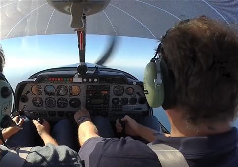 Spin Training im Flugzeug