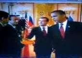 Händeschütteln mit Obama