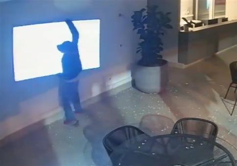 Einbrecher wollen Fernseher stehlen