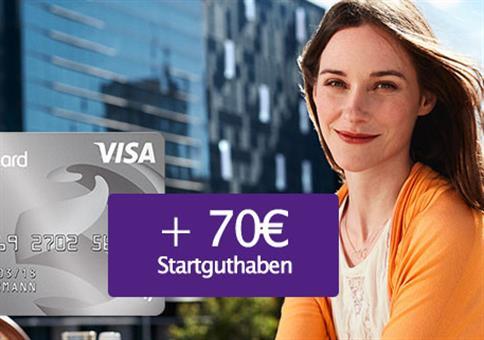 GRATIS Visa-Karte mit 70€ Bonus!
